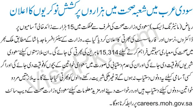 Saudi Arabia jobs in urdu
