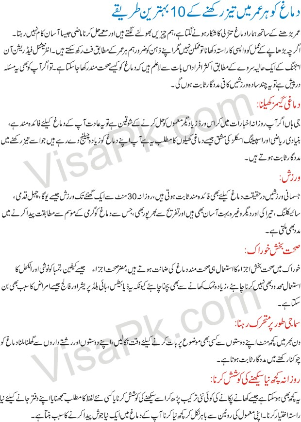 How to make brain sharp in urdu 1